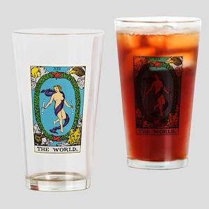 THE WORLD TAROT CARD Drinking Glass