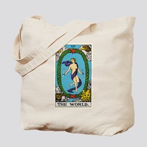 THE WORLD TAROT CARD Tote Bag
