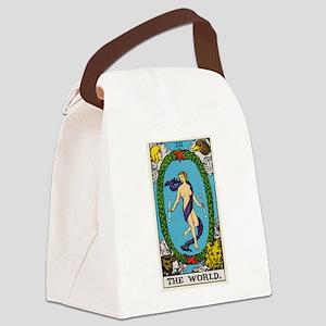 THE WORLD TAROT CARD Canvas Lunch Bag