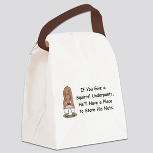 Squirrel Undies Canvas Lunch Bag