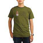 Squirrel Undies Organic Men's T-Shirt (dark)