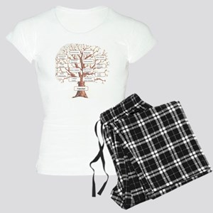 Family Occupation Tree Women's Light Pajamas