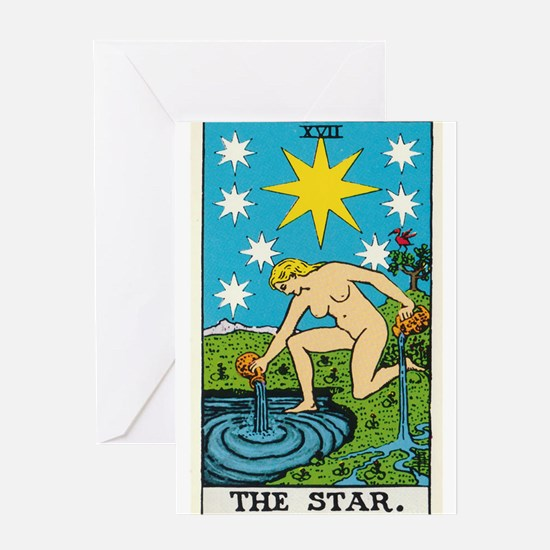 THE STAR TAROT CARD Greeting Cards