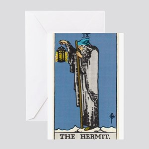 THE HERMIT TAROT CARD Greeting Cards