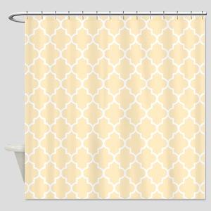 Cream Quatrefoil Shower Curtain