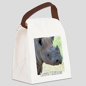 Love Rhinos Canvas Lunch Bag