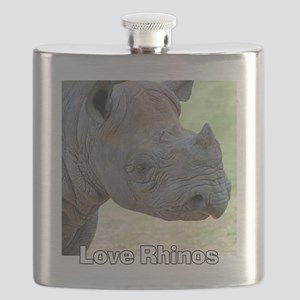 Love Rhinos Flask