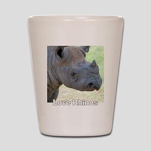 Love Rhinos Shot Glass