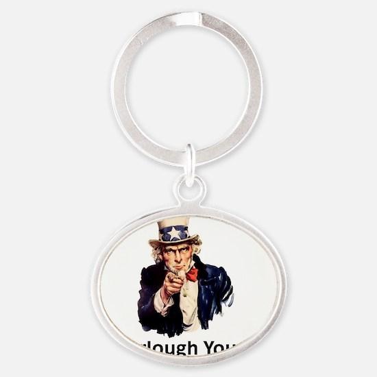GFY Oval Keychain