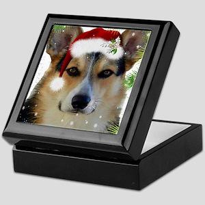 Handsome Holiday Corgi Keepsake Box