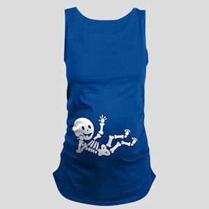 Pregnant Skeleton Maternity Tank Top
