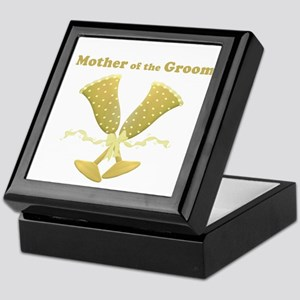 Champagne Mother of the Groom Keepsake Box