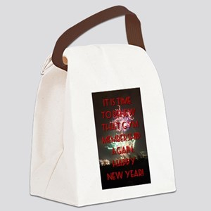 It Is Time To Renew Canvas Lunch Bag