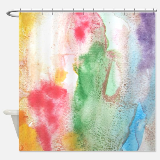 Funky Paint arty Shower Curtain