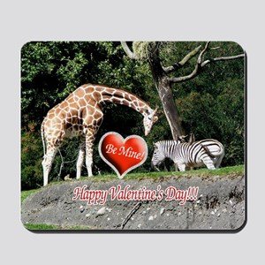 Helaines' Giraffe/Zebra Valen Mousepad
