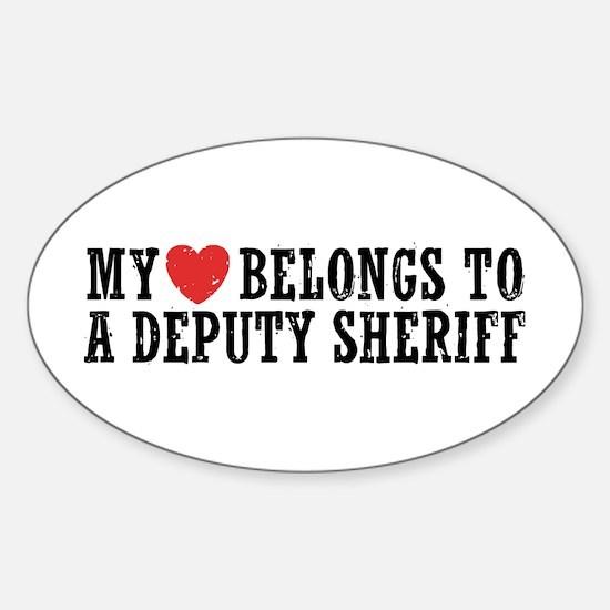 My Heart Belongs to a Deputy Sheriff Decal