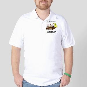 KINDNESS CARTOON Golf Shirt