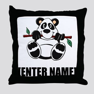 Panda Personalize It! Throw Pillow