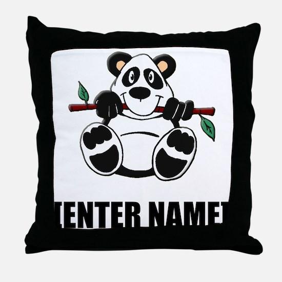 Panda Personalize It! Throw Pillow