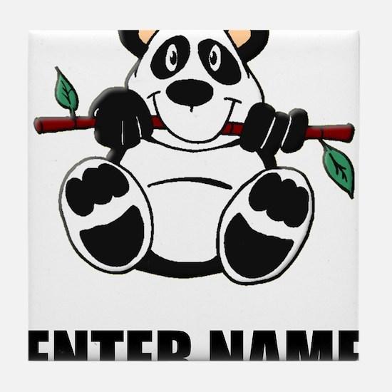 Panda Personalize It! Tile Coaster