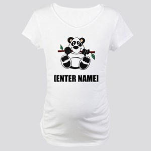 Panda Personalize It! Maternity T-Shirt