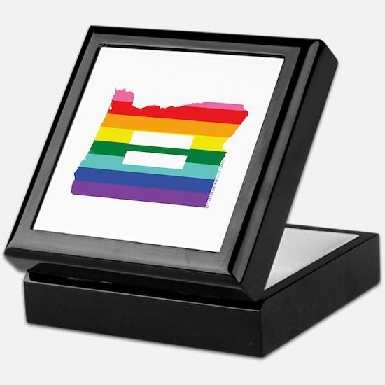Oregon equality Keepsake Box