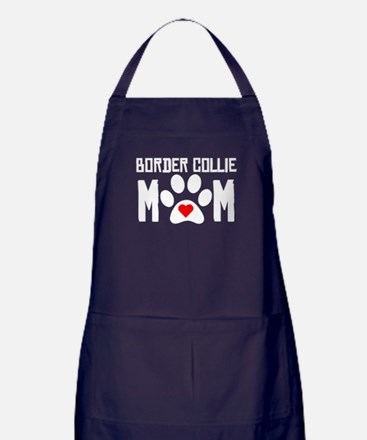 Border Collie Mom Apron (dark)