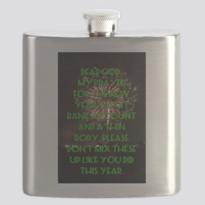 Dear God My Prayer For The New Year Flask