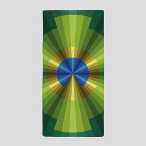 Peacock Illusion Beach Towel