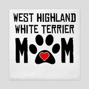 West Highland White Terrier Mom Queen Duvet
