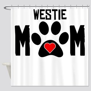 Westie Mom Shower Curtain