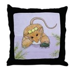 Giddy Glinda P9 Woodhill Whiskers Throw Pillow