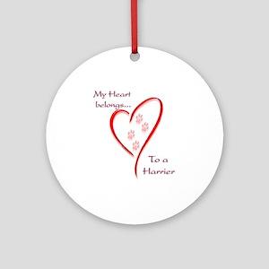 Harrier Heart Belongs Ornament (Round)