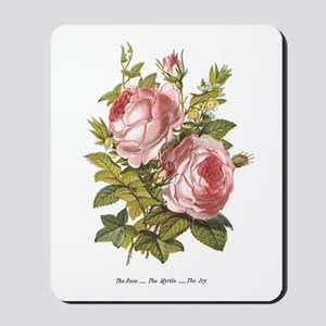 Rose, Myrtle and Ivy Mousepad