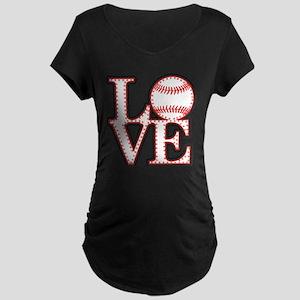 Love Baseball Classic Maternity T-Shirt