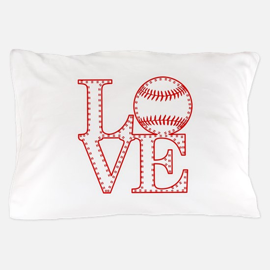 Love Baseball Laces Light Pillow Case