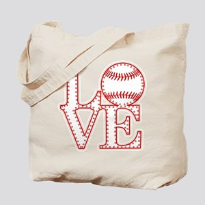 Love Baseball Laces Light Tote Bag