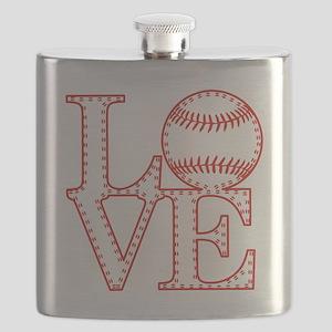 Love Baseball Laces Light Flask