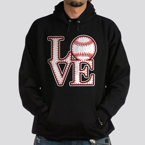 Love Baseball Laces Light Hoodie