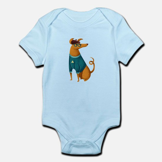 Brown Dog from Paris Infant Bodysuit