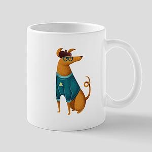 Brown Dog from Paris Mug