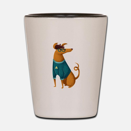 Brown Dog from Paris Shot Glass
