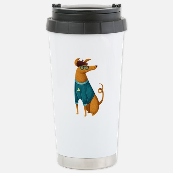 Brown Dog from Paris Stainless Steel Travel Mug