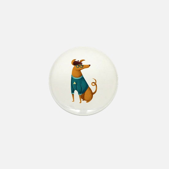 Brown Dog from Paris Mini Button