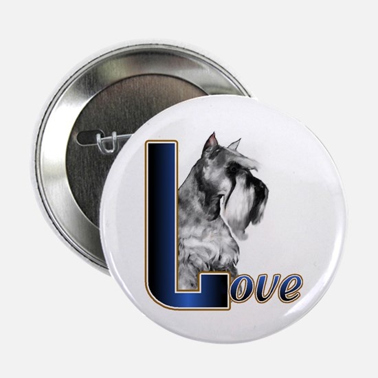 "Miniature Schnauzer Love 2.25"" Button (10 pack)"