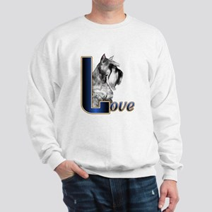 Miniature Schnauzer Love Sweatshirt