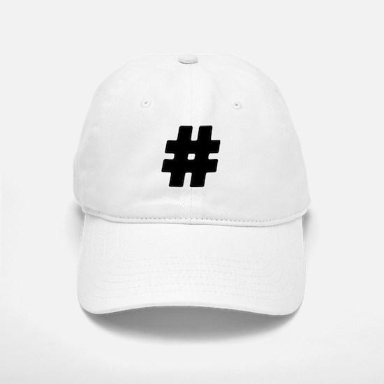 Black #Hashtag Baseball Baseball Cap