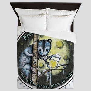 The Frosty 'Possum Pub Queen Duvet