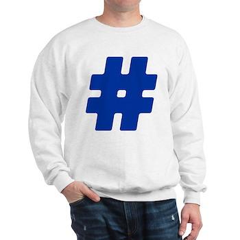 Blue #Hashtag Sweatshirt