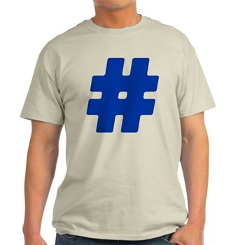 Blue #Hashtag Light T-Shirt
